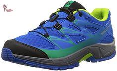 Salomon Wings Pro 2, Chaussures de Running Entrainement Homme, Bleu (Bright Blue/Black/Tonic Green), 46 EU