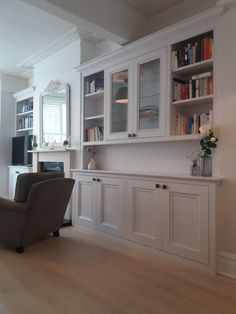 Alcove Cabinets, Kitchen Cabinets, Alcoves, Shelving, Living Room, Home Decor, Shelves, Decoration Home, Room Decor