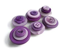 Button Magnets Purple Shades Handmade by MadebyMegToo on Etsy,