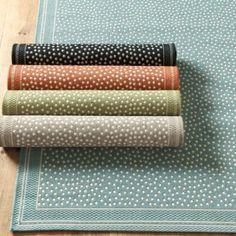 Marina Indoor Outdoor Rug   Ballard Designs I like this rug - got great reviews, great price.