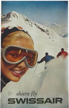 Original-vintage-poster-SKIERS-FLY-SWISSAIR-SKI-GIRL-1959