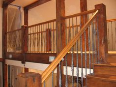 Rustic Open Staircase | Rustic Staircase Designs http://clarendonconsulting.com/flowplayer ...