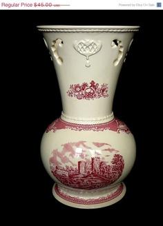 Johnson Bros Vase - Old British Castles.