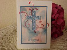 Glückwunschkarten - Zur Kommunion - elegante moderne Grußkarte - ein Designerstück von kreativesherzerl bei DaWanda