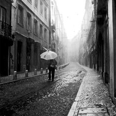 """500px / Photo """"Rain"""" by Paulete Matos ❤ liked on Polyvore featuring backgrounds, pictures, photos, rain and city"""