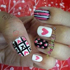 Sweet Valentine's day by Azalea from Nail Art Gallery