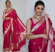 Indian Bridal Sarees, Indian Bridal Fashion, Indian Wedding Outfits, Indian Outfits, Bridal Dupatta, Engagement Saree, Silk Sarees, Pink Saree Silk, Banarsi Saree
