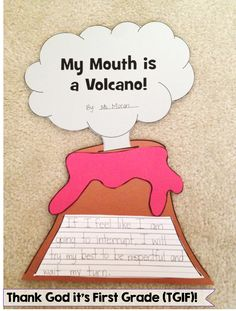 My mouth is a volcano activity to help your students curb their interrupting from the beginning of the year!