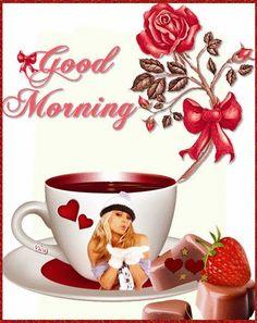 Beautiful Photos Of Nature, Beautiful Gif, Good Morning Sister, Good Night Gif, Morning Gif, Good Morning Flowers, Tea Cups, Creative, English Grammar