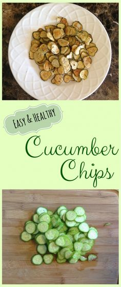 Healthy treat anyone can enjoy - Baked Cucumber Chips! Super easy, delicious, and kid approved.