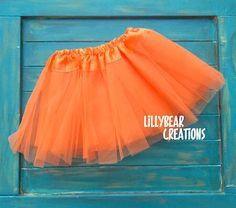 Girls Orange Tutu Skirt, Halloween Costume Tutu, Halloween Baby, Infant Tutu, Game Day, Fall Tutu, Dance Tutu, Flower Girl Tutu, Cake Smash by LillyBearCreations on Etsy https://www.etsy.com/listing/205180558/girls-orange-tutu-skirt-halloween
