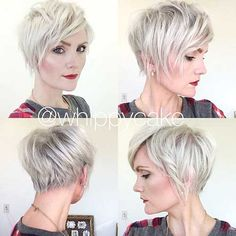 Blonde Short Hair with Layers