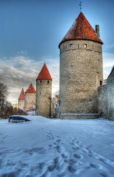 Tallinn, Estonia.  Looks like outside the walls of the Old Town