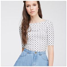 Forever 21 scoop print top Scoop pattern top. Size S. Brand new with tags. Forever 21 Tops