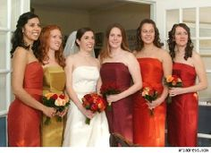 Bridesmaids Dresses For A Fall Wedding Fall Wedding Colors Bridesmaid