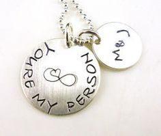 You're My Person Personalized Hand Stamped Necklace