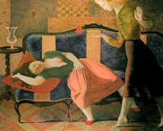 The Dream, 1955 by Balthus (Balthasar Klossowski De Rola) on Curiator, the world's biggest collaborative art collection. William Hogarth, Modern Artists, French Artists, Pablo Picasso, Figure Painting, Painting & Drawing, Dream Painting, Time Painting, Herbert List
