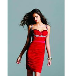 $297.00 Faviana Short Dress at http://viktoriasdresses.com/ Through John's Tailors
