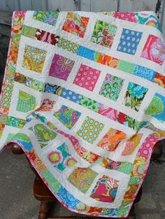 Amy Butler Soul Blossoms Baby Toddler or Lap quilt