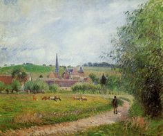 View of Eragny by Camille Pissarro, 1884