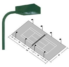 A properly designed tennis court lighting system should do more than light the surface of the tennis court.  More importantly, the system should effectively light the tennis ball in its flight path across the tennis court. The proper quantity and location of poles and fixtures will insure that this objective is achieved. #sportlighting #tenniscourtlights