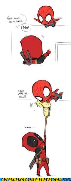 DEADPOOL and SPIDEY!!!