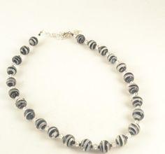 SALE Glass Beads SWAROVSKI Crystal Black and White by ChezChani, $7.99