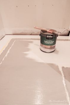 INCREDIBLE stair makeover with PAINT! SO much cheaper than stain or new stairs! If you can hold a paintbrush, you can easily learn how to paint stairs! Painted Staircases, Painted Stairs, Painted Floors, Porch Flooring, Basement Flooring, Porch And Patio Paint, Alaska House, Cleaning Paint Brushes, Porch Stairs