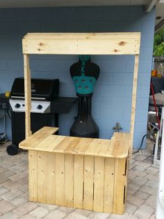 how to make a lemonade stand out of pallets