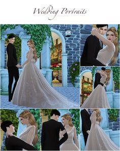 Sims 4 CC's - The Best: Wedding Poses by Flower Chamber - Wedding Makeup Videos Sims 4 Couple Poses, Couple Posing, Wedding Poses, Wedding Couples, Wedding Dresses, Wedding Ideas, Sims 4 Family, Wedding Photography Checklist, Sims4 Clothes