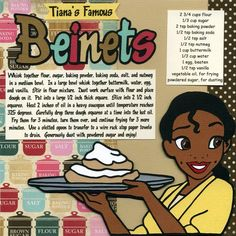 Disney recipe pages single: Tiana's Famous Beinets Disney Desserts, Disney Dishes, Disney Recipes, Disney Themed Food, Disney Inspired Food, Disney Food, Disney Snacks, Baking Recipes, Snack Recipes