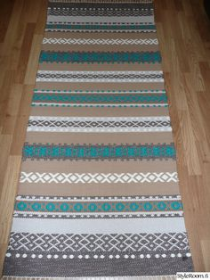 Weaving Patterns, Knitting Patterns, Rag Rugs, Weaving Techniques, Knit Or Crochet, Woven Rug, Tool Design, Scandinavian Style, Home Textile