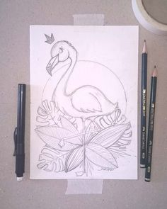 Drawings for art Drawings for art More from my siteAlice in Wonderland Cartoon Drawings Pencil Art Drawings, Art Drawings Sketches, Bird Drawings, Doodle Drawings, Cartoon Drawings, Easy Drawings, Animal Drawings, Doodle Art, Flamingo Drawings
