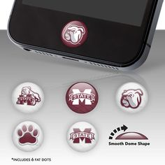 Mississippi State Bulldogs Fat Dots Home Button Decals