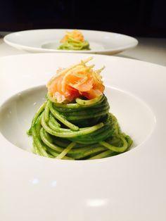Spaghetti di Kamut Rucola Limone e Salmone - Ombra in Cucina