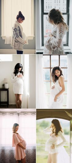 Oh Baby! 34 Beautiful Home Maternity Photos We Love! Natural Light By The Window