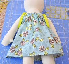 """Dolly pillowcase dress tutorial for an 18"""" doll - doll was purchased so the dress would have to be sized for whatever dolly it's being sewn for :)"""