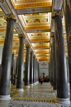 Twenty column hallway. Hermitage -Winter Palace (Interior) St. Petersburg RUSSIA   (by mirbass76, via Flickr)