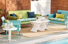 GrandInroad -- rug??  coffee table? Retro Outdoor Furniture Collection