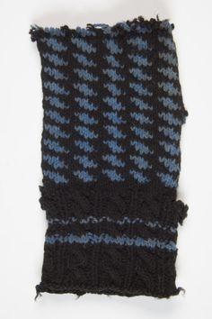 Fragment of an old Estonian mitten, beautiful cuff