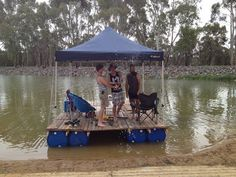 How To Build A Transportable Pontoon Raft Out Of Old Pallets And 55 Gallon Plastic Drums