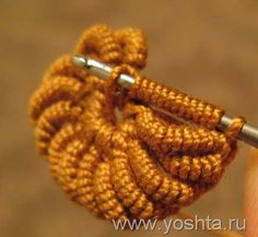 bullion stitch crochet. A tutorial on how to make a rope flower.