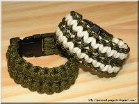 Wide paracord bracelet, two colors (solomon bar)