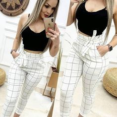 🛍 Opening discounts and rewards 📌 Link is in our bio 🔥 Check it out . Stylish Summer Outfits, Cute Casual Outfits, Chic Outfits, Pretty Outfits, Girl Outfits, Classy Casual, Casual Looks, Fashion Pants, Fashion Outfits