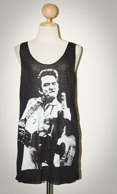 Johnny Cash Black Singlet Tank Top Sleeveless Rock by pleiadeshop, $15.00 Want!!!