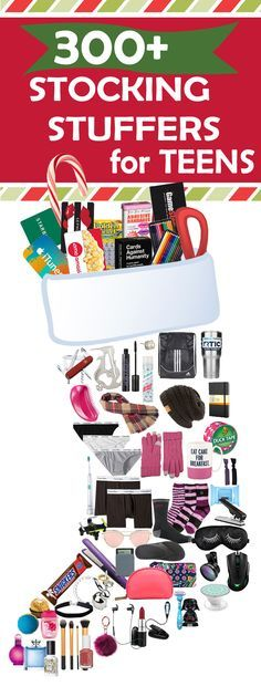 Parents, save this list! Check out 300+ Stocking Stuffers For Teens. Stocking Stuffer Ideas for both Teen Girls and Teen Guys.