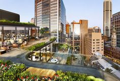 grimshaw's mixed-use build in sydney has cascading rooftop terraces - designboom | architecture