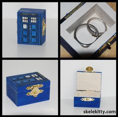 Yes yes, i will tell your future s/o he must have this box in order to propose.... Custom Doctor Who TARDIS wedding ring box