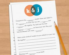 madlibs guestbook
