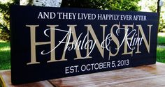 Personalized Wedding Signs Family name signs by SugarCreekLane